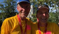 Jochen Haußmann MdL und Christoph Daniel Maier beim Remstal-Marathon 2019